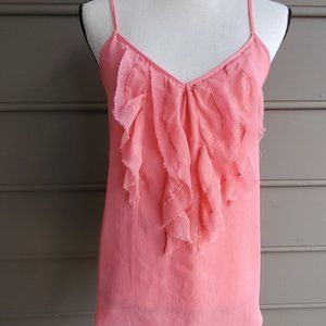 Pink Ruffled Camisole